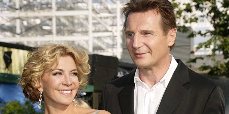 Liam Neeson and his wife Natasha Richardson