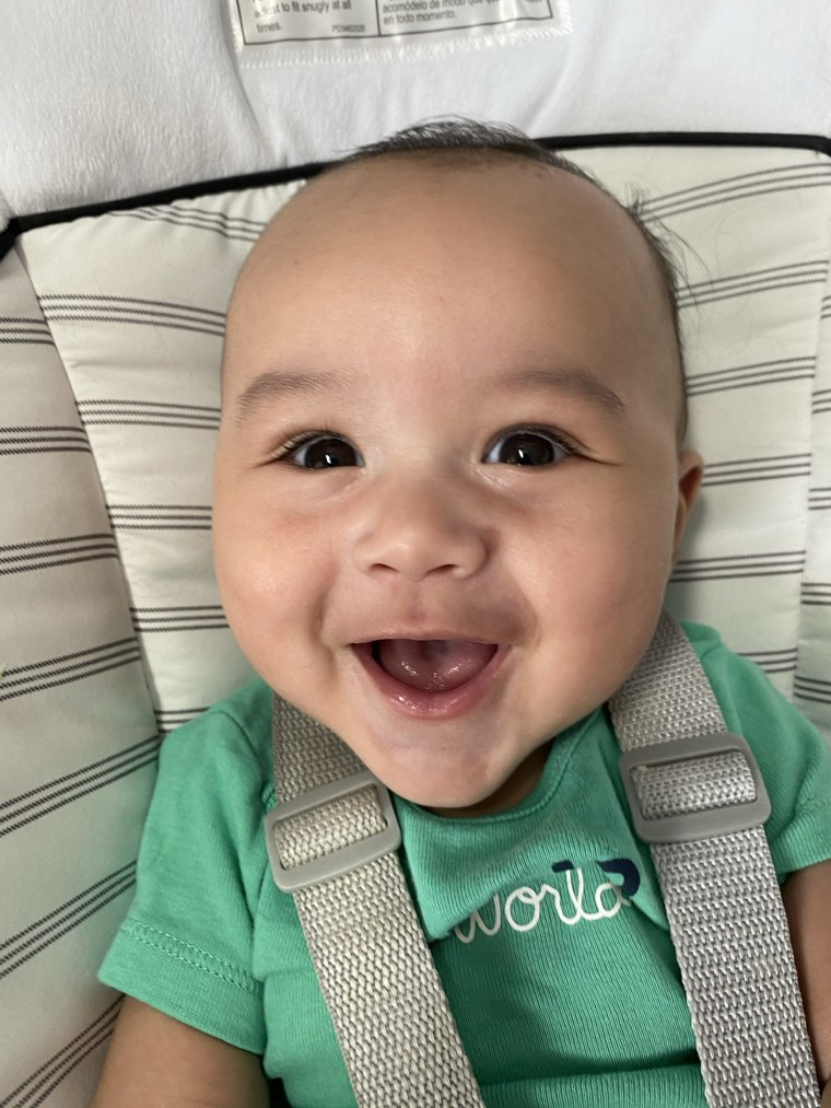 """Yeah Dad, we think it's official: Your baby is super cute. As the newest Gerber baby, Zane Kahin is also the company's """"Chief Growing Officer."""""""