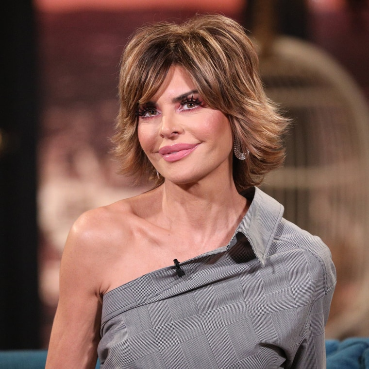 Pictured: Guest Lisa Rinna on the set of Busy Tonight