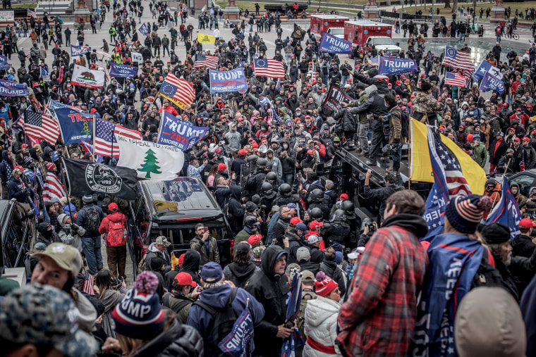 """Trump Supporters Hold \""""Stop The Steal\"""" Rally In DC Amid Ratification Of Presidential Election"""