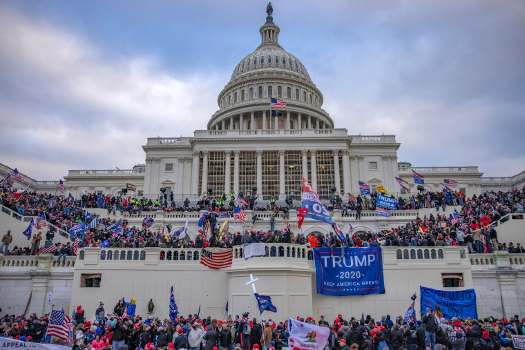 Image: Supporters of President Trump storm the Capitol building on Jan. 6, 2021.
