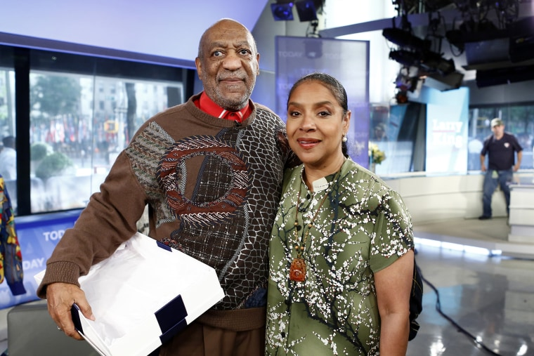 """Bill Cosby and Phylicia Rashad appear on NBC's \""""TODAY\"""" show in 2013."""