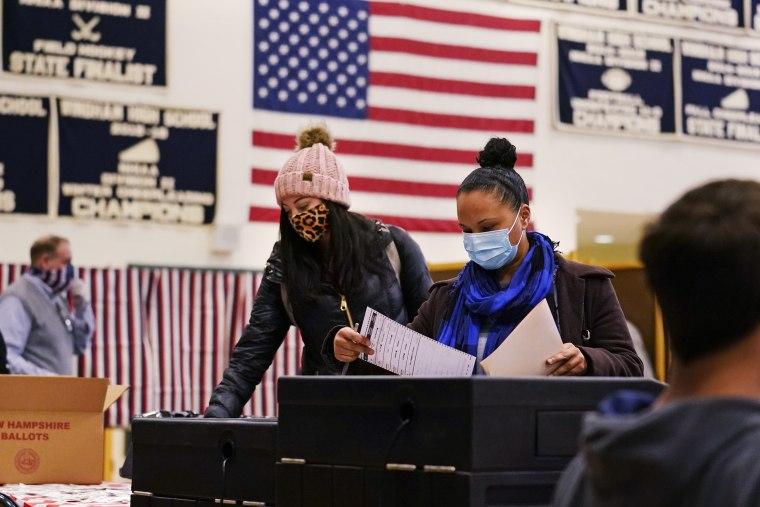 A polling station at Windham, N.H., on Nov. 3, 2020.