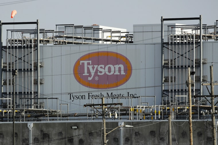A Tyson Fresh Meats plant in Emporia, Kan., on April 27, 2020.