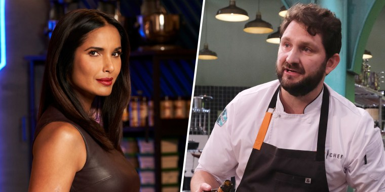 """""""Top Chef"""" host Padma Lakshmi has spoken out about a controversy involving recent season 18 winner Gabe Erales."""