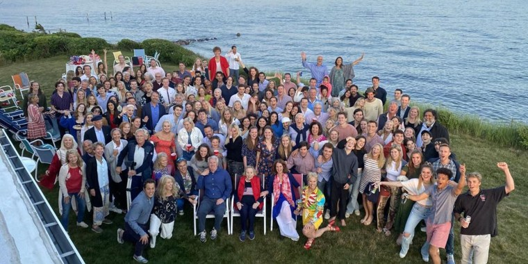 The historic family shared their annual Independence Day photo on Monday from the family's compound in Hyannis Port, Massachusetts.