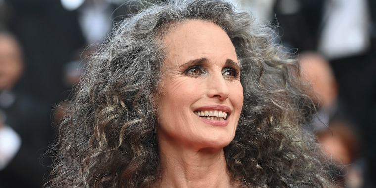 Andie MacDowell on the red carpet in Cannes.