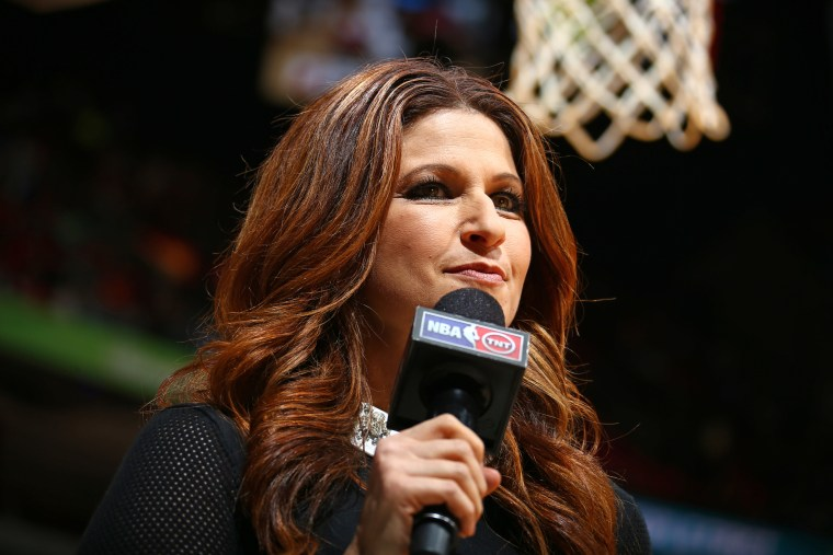 Rachel Nichols during the Oklahoma City Thunder game against the Miami Heat on December 3, 2015 in Miami.