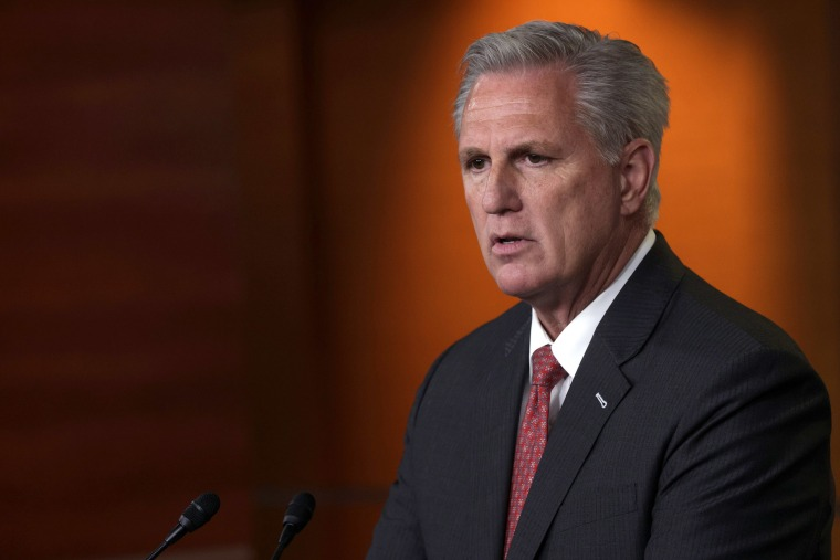 Image: House Minority Leader Rep. Kevin McCarthy speaks during a weekly news conference at the Capitol,