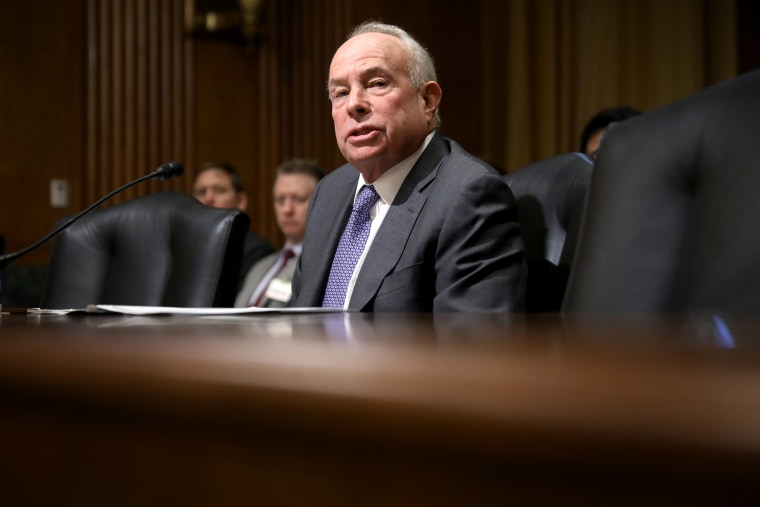 New York businessman Andrew Saul testifies before the Senate Finance Committee during his confirmation hearing to be commissioner of the Social Security Administration in the Dirksen Senate Office Building on Capitol Hill Oct. 2, 2018.