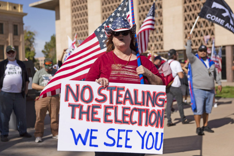 Demonstrators Attend Stop The Steal Rally