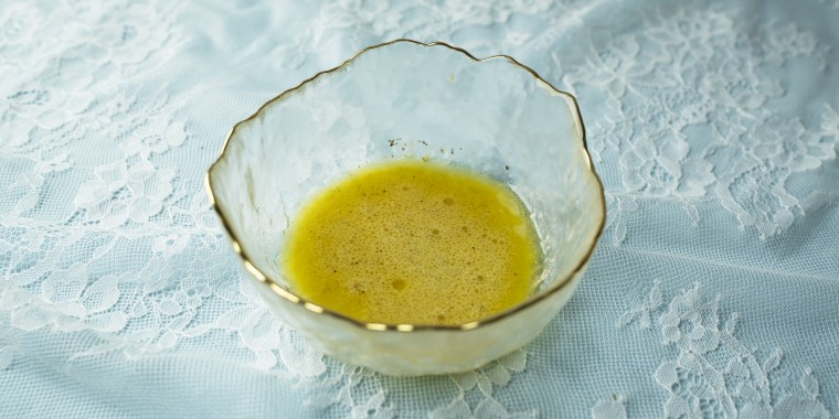 The best ratio when making a vinaigrette is going to be 1 part mustard, 2 parts vinegar and 3 parts extra virgin olive oil.