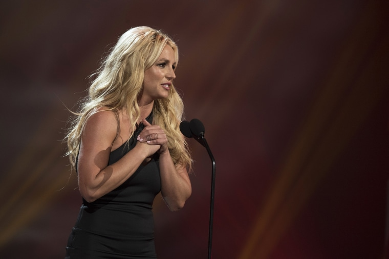 Britney Spears speaks at the Radio Disney Music Awards in Los Angeles on April 29, 2017.