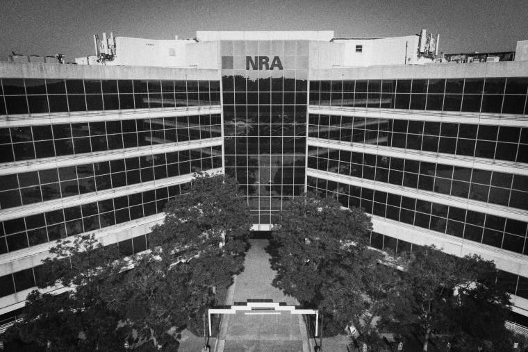 NRA headquarters in Fairfax, Va., on Aug. 10.