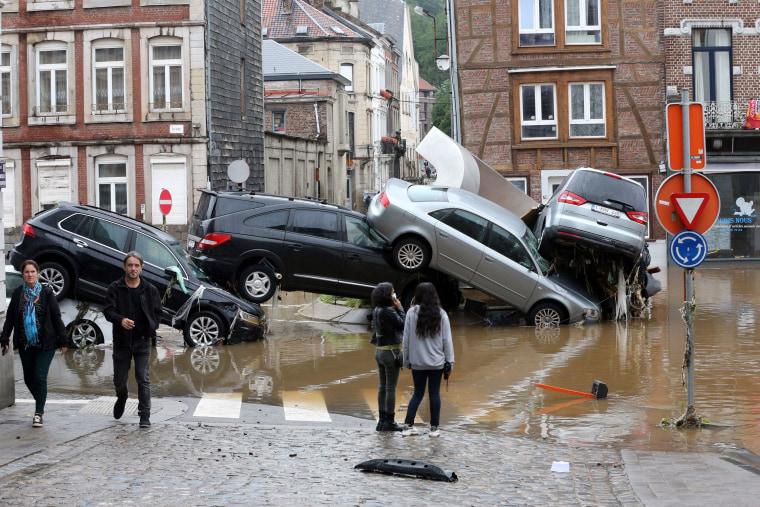 Image: *** BESTPIX *** TOPSHOT-BELGIUM-WEATHER-FLOODS