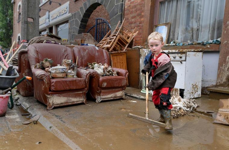 Image: TOPSHOT-BELGIUM-WEATHER-FLOODS