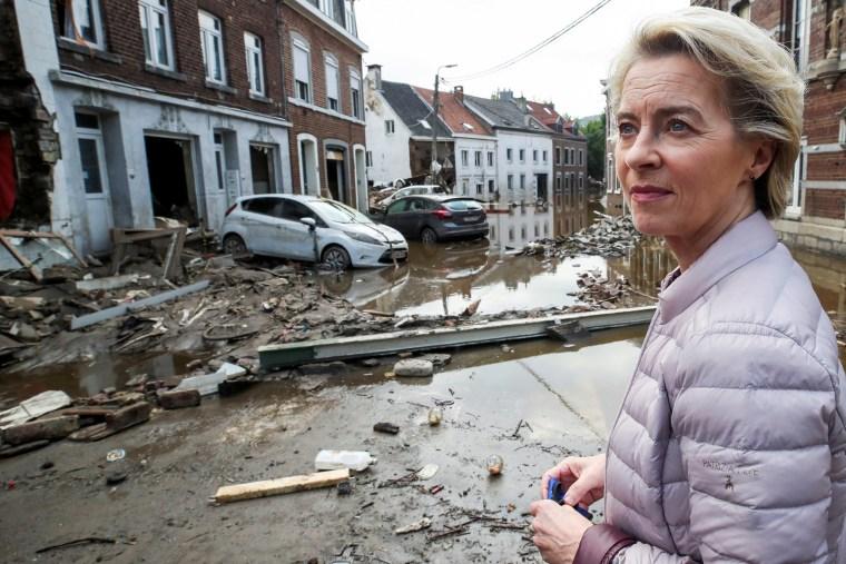 Image: Heavy rainfalls, in Pepinster, Belgium