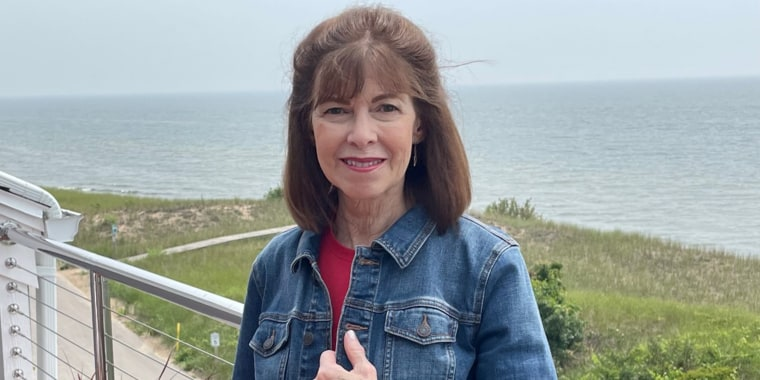"""""""I frankly lived in denial about having any heart issues,"""" Diane Feenstra said. She became alarmed when her Apple Watch showed a high pulse at rest in April."""