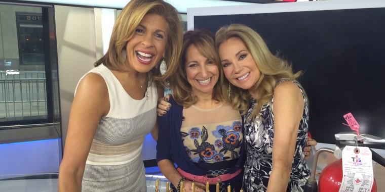 Hoda Kotb and Kathie Lee Gifford help Joanne LaMarca Mathisen celebrate her 50th birthday on the show.