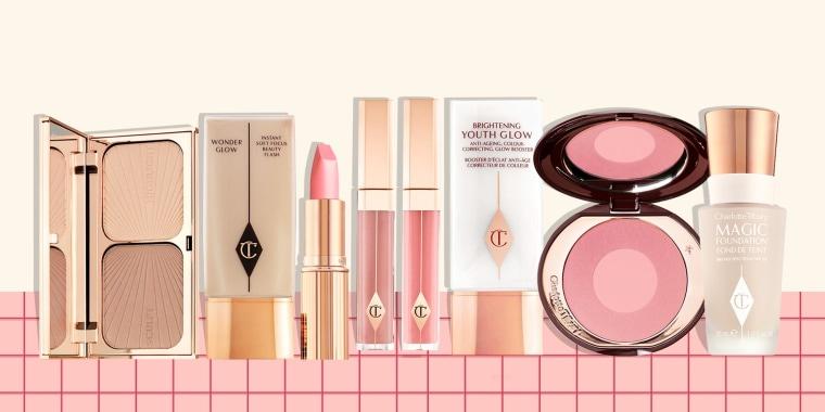 Illustration of Charlotte Tilbury products on sale