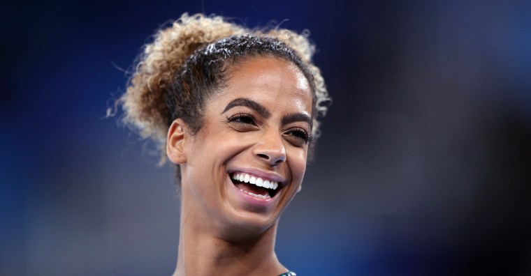 Danusia Francis was all smiles after her 11-second performance on the uneven bars in Tokyo.