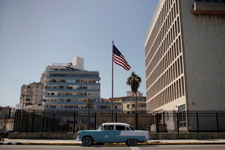 Image: The U.S. Embassy in Havana on March 2, 2021.