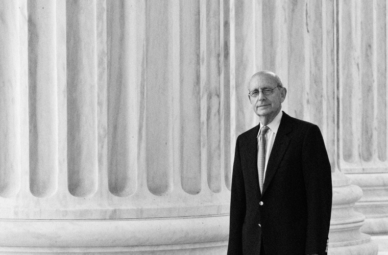 Image: Justice Stephen Breyer outside of the Supreme Court in Washington in 2011.