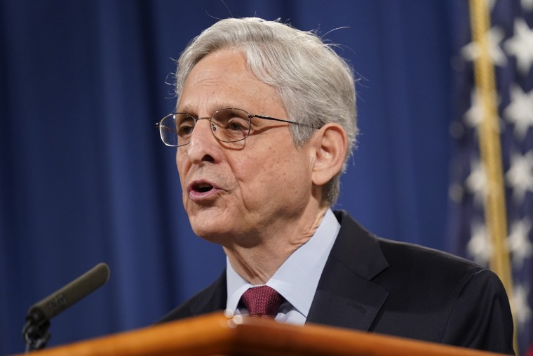 Attorney General Merrick Garland speaks at the Department of Justice in Washington on June 25, 2021.