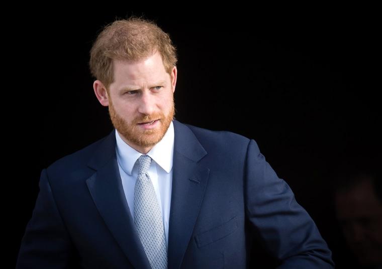 Prince Harry, Duke of Sussex at Buckingham Palace on London on Jan. 16, 2020.