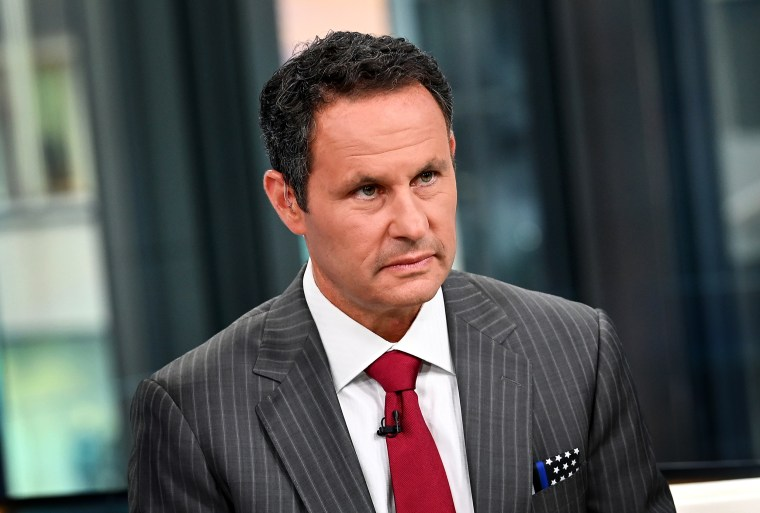 """Brian Kilmeade hosts \""""FOX and Friends\"""" at Fox News Channel Studios on Sept. 24, 2019 in New York."""