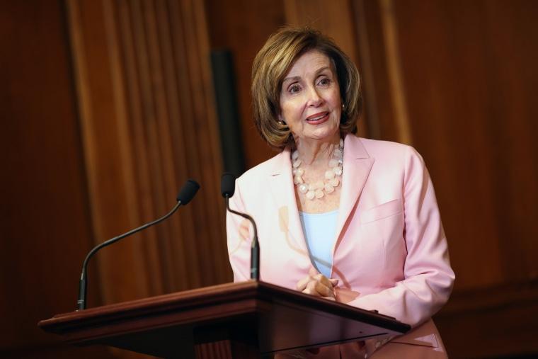 Speaker of the House Nancy Pelosi, D-Calif., speaks at the Capitol on June 29, 2021.