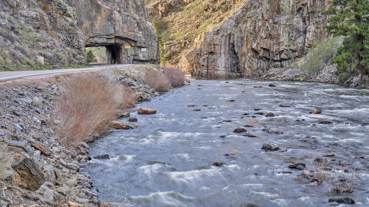 Image: Cache la Poudre River at Little Narrows above Fort Collins in northern Colorado.