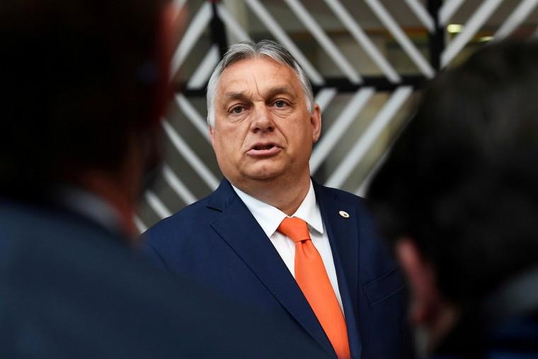 Hungary's Prime Minister Viktor Orban in Brussels on June 24, 2021.