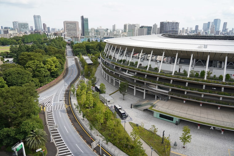 Image: The National Stadium, the main venue for the Tokyo 2020 Olympic and Paralympic Games