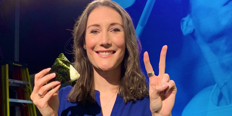 """""""I ate a rice ball before the broadcast,"""" tweeted former Olympian Anastasia Bucsis. """"Thanks again to the wonderful people in Japan."""""""