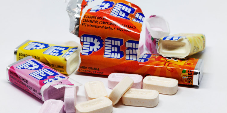 Umea, Norrland Sweden - March 3, 2020: candy blocks for toys