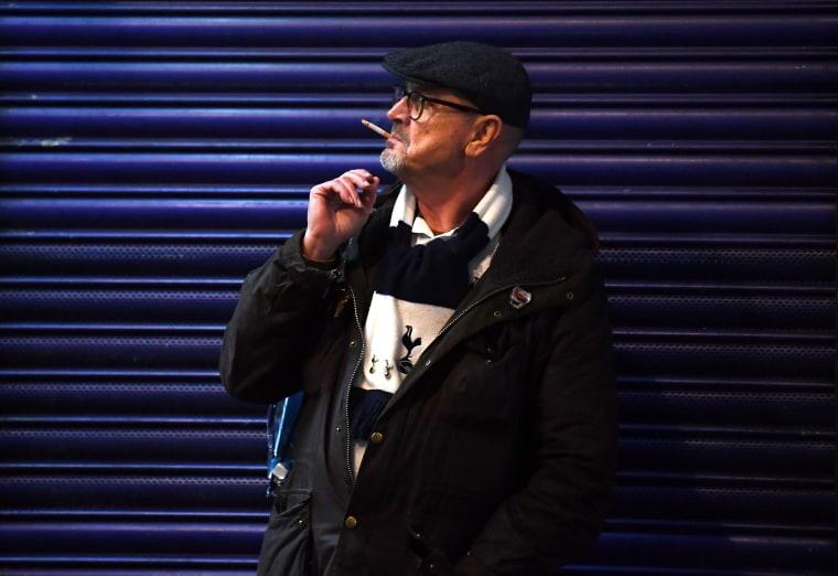 Image: Cigarette smoker in London