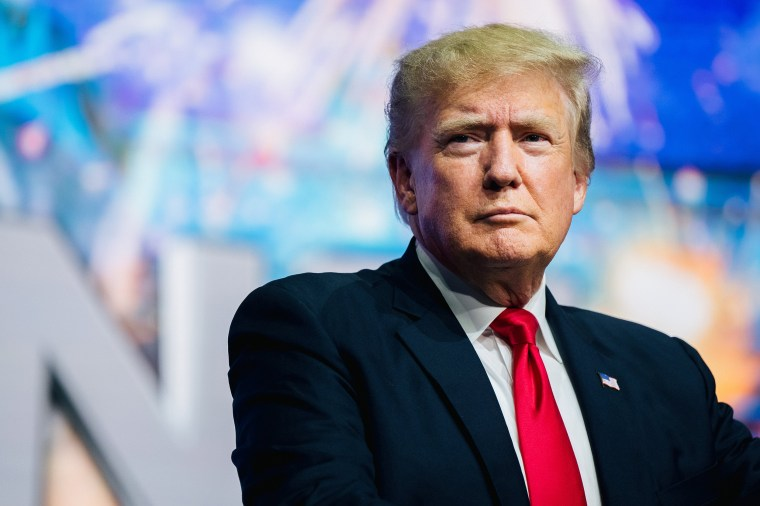 Image: Former President Donald Trump at the Rally To Protect Our Elections conference on July 24, 2021 in Phoenix.