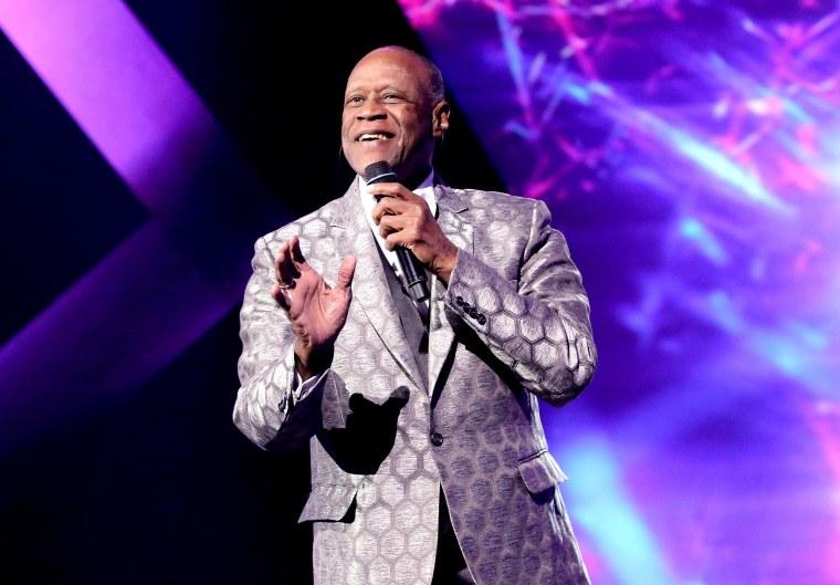 Image: Singers Johnny Ventura performs in Las Vegas  on Nov. 16, 2016.