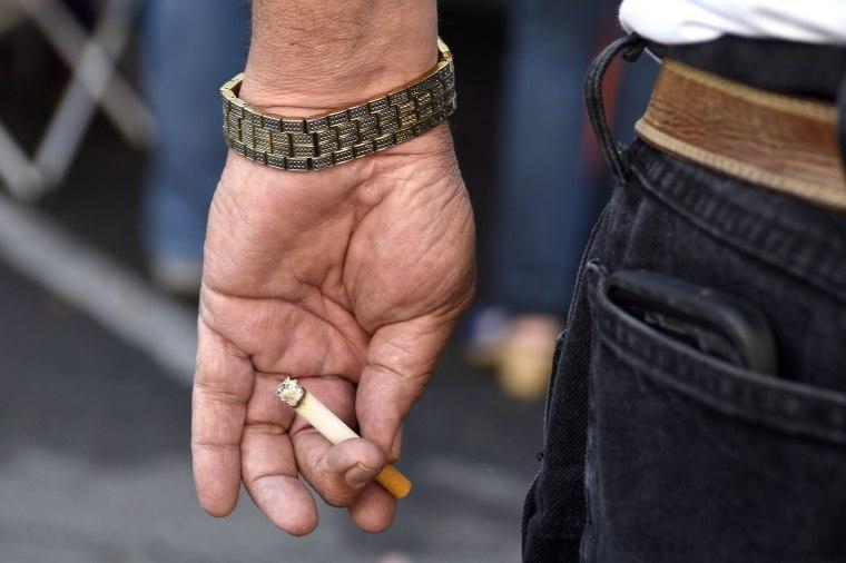 Image: Cigarette smoker, Southwest USA scenics