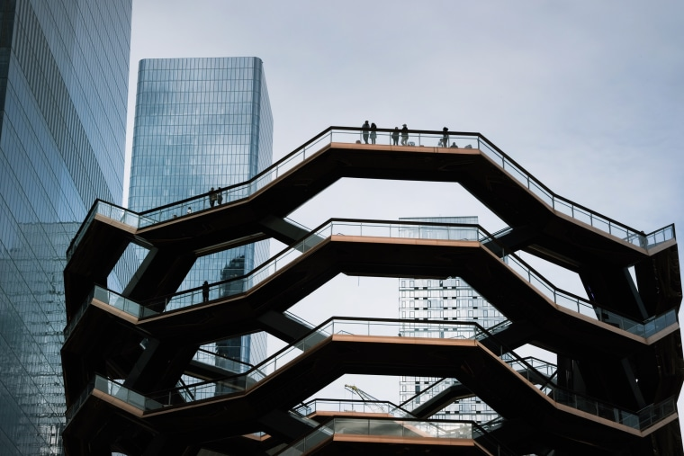 The Vessel stands in Hudson Yards days after its reopening on June 2, 2021 in New York.