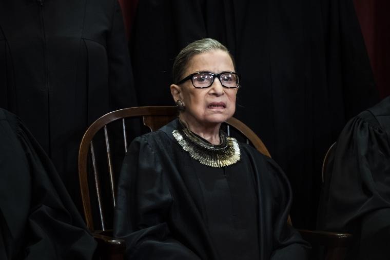 Associate Justice Ruth Bader Ginsburg in Washington on Nov. 30, 2018.