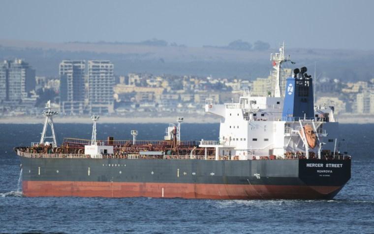 Image:  oil tanker Mercer Street