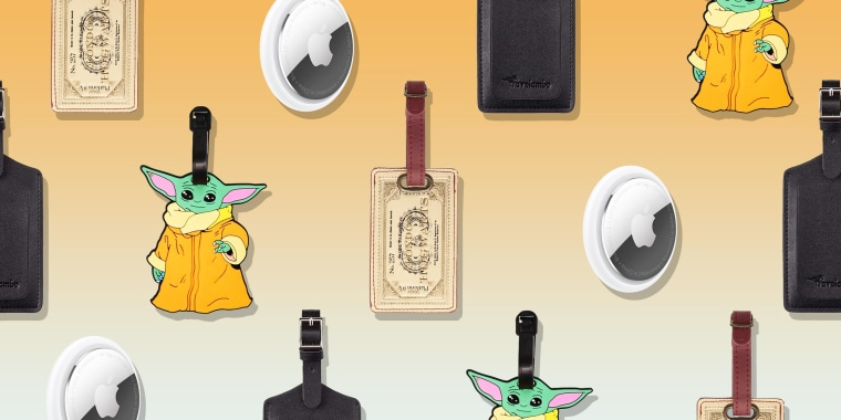 Illustration of different luggage tags