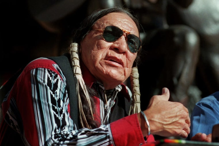 Saginaw Grant, veteran actor and writer, speaks at the Gene Autry Museum in Los Angeles on Feb. 18, 2000.
