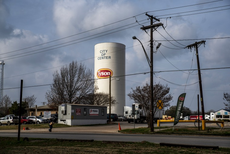 A Tyson Foods Inc. processing plant in Center, Texas, on Dec. 9, 2019.