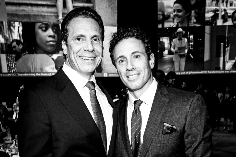 New York Governor Andrew Cuomo and Chris Cuomo on May 12, 2015 in New York.