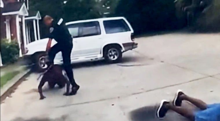 A 58-year-old man in Orangeburg, S.C., was stomped by a police officer on July 26, 2021.