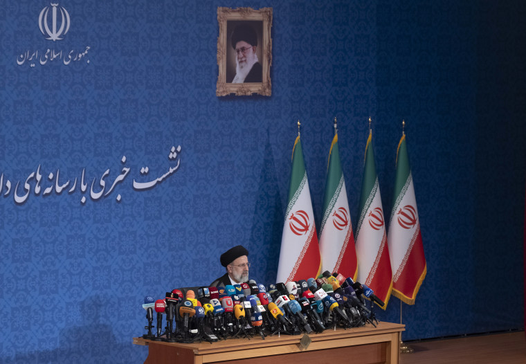 First Iran's President Elect Ebrahim Raisi New Conference In Tehran