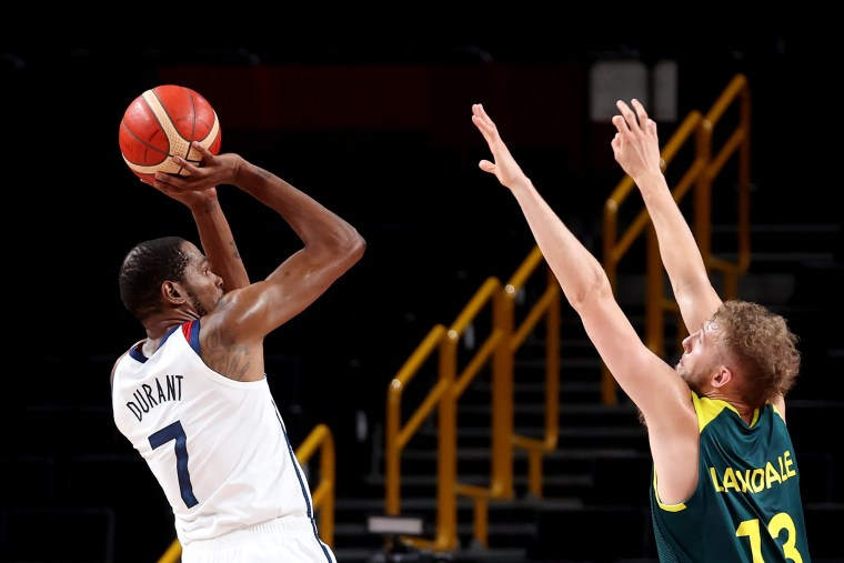 Image: United States v Australia Men's Basketball - Olympics: Day 13